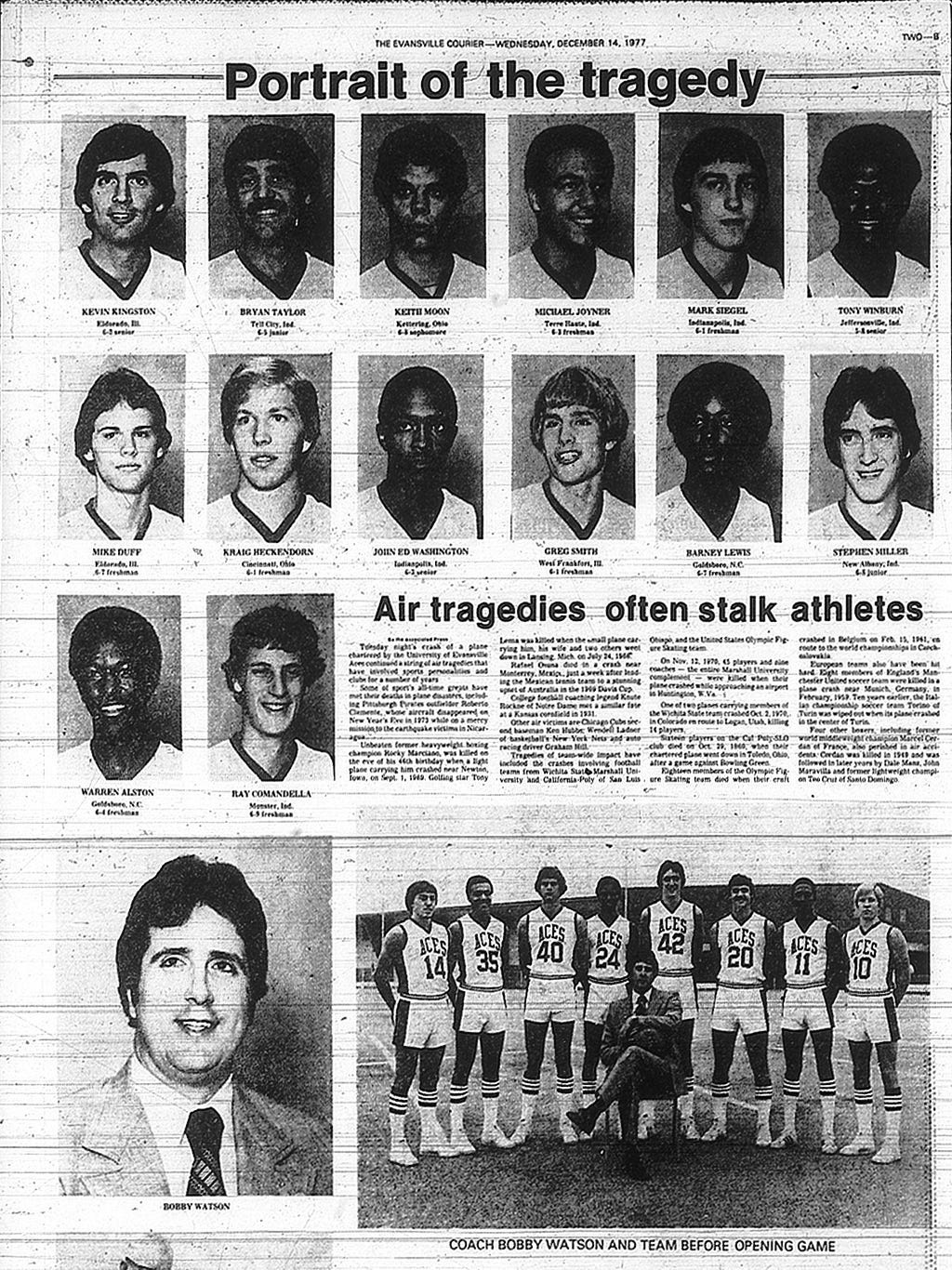 Remembering the Aces: 1977-78 season brought optimism, then tragedy