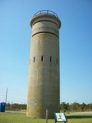 An old WWII watchtower on Tower Road in Dewey Beach.