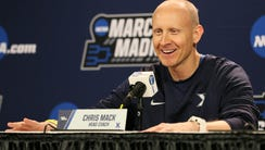 Xavier Musketeers head coach Chris Mack takes questions