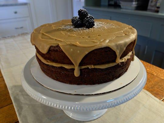 Granny Kellett's black berry jam cake at Anne Byrn at home on Thursday, Nov. 17, 2016, in Nashville, Tenn.