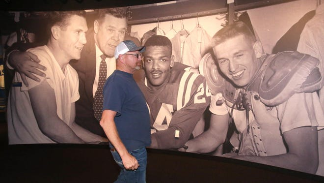 Mike Noland was one of the Pro Football Hall of Fame's first guests after the Canton museum reopened on Wednesday.