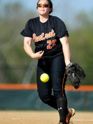 Central York's Taylor Rohrbaugh struck out eight Friday in a 6-4 win vs. Red Lion that helped the Panthers pull into a first-place tie with Dallastown in YAIAA Division I. (Daily Record/Sunday News -- Chris Dunn)