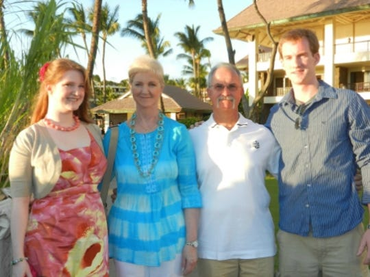 The Wirth family of Paramus while on vacation.