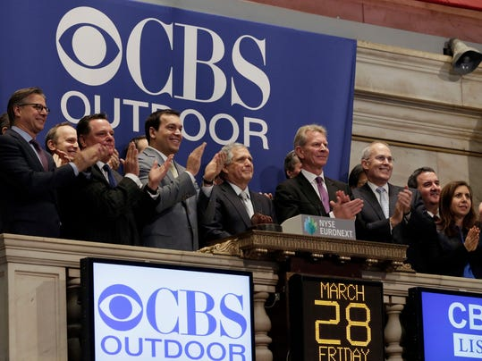 CBS Outdoor's IPO started trading.