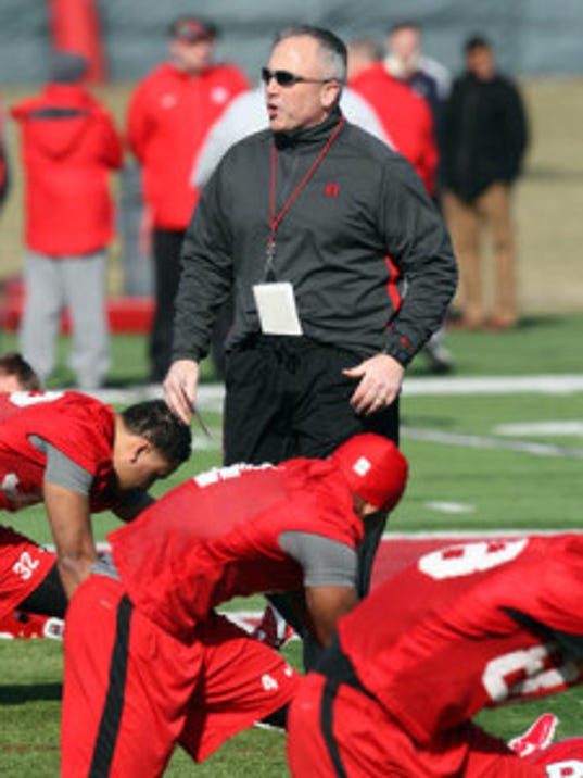 Coach Kyle Flood and the Rutgers football team held its second and final scrimmage of training camp Saturday night at High Point Solutions Stadium. (Mark Sullivan/MyCentralJersey.com)