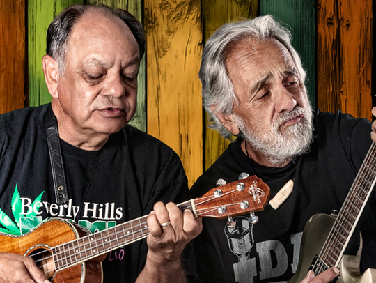 Tommy Chong (right) and Cheech Marin of the comedy