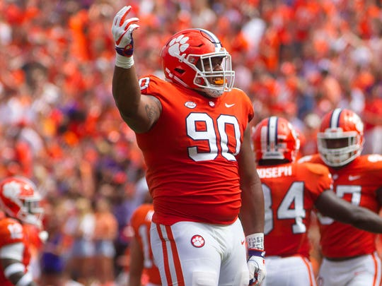 Clemson Tigers defensive tackle Dexter Lawrence.