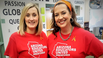 ACME Prints, in Phoenix, created affordable shirts to help teachers during the Red For Ed movement.