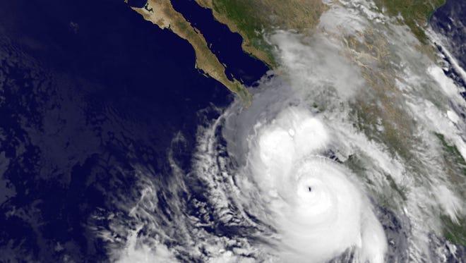 Satellite image shows Hurricane Odile taken at 5:45 a.m. ET on Sunday.
