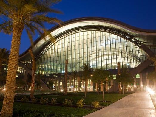 The outside of the terminal building of the new  Hamad International Airport.