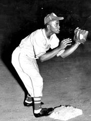 Bill McCrary in action. He was 17 when he was signed by famed Kansas City Monarchs.