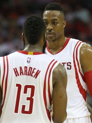Rockets guard James Harden is excited for Dwight Howard's return.