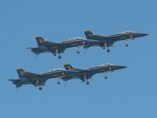 The Blue Angels perform in Ocean City on Saturday,
