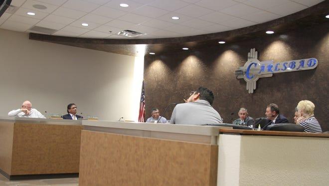 Carlsbad City Council discuss business at a regular meeting Tuesday, Oct. 24, 2017.
