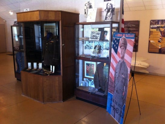 The Dyess Air Force Base museum, which is located north of the main gate on Arnold Boulevard, features an exhibit of William Edwin Dyess memorabilia. The base was named for the World War II hero from Shackelford County.