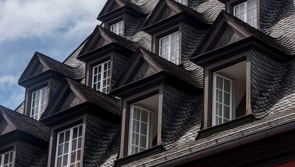 Old slate rooftops in Koblenz.