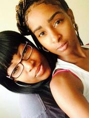 Niani Allen, 16, is shown with her sister Deisha Clark.
