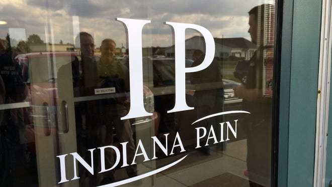 Outside of Indiana Pain Clinic which was raided.