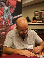 Deadpool co-creator Fabian Nicieza signed autographs and chatted with fans Saturday at the new SW-Florida Comic-Con.