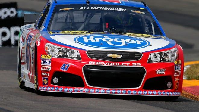 AJ Allmendinger competes in qualifying Saturday at Watkins Glen International.