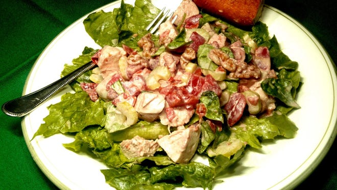 Walnut Chicken Salad is perfect for a hot summer night.
