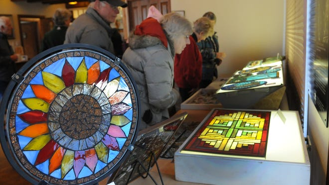 Mia Dewit created this glass mosaic in a Winter Program class taught by Gary Chaudoir.