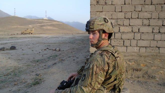 """Jacob Hutchinson served as a medic in Afghanistan with the """"Red Bulls"""" of the Iowa National Guard's 34th Infantry Division."""