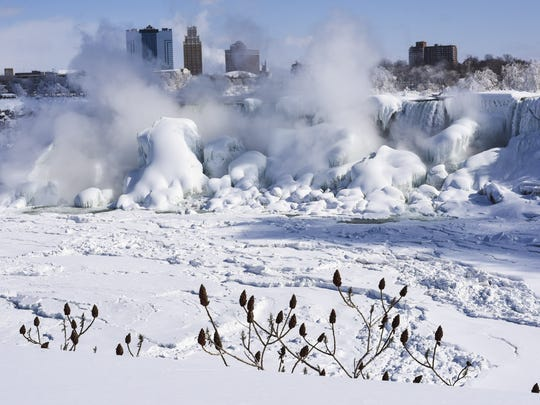 BESTPIX Extreme Cold Freezes Parts Of Niagara Falls