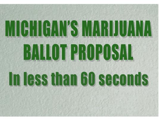 Michigan's marijuana ballot proposal