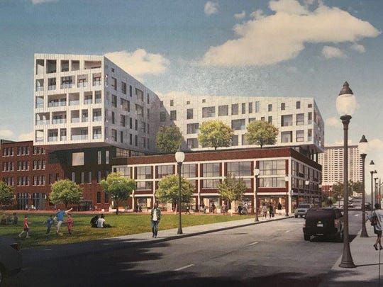 Rendering of plans for redevelopment of the historic Stone Soap building in Detroit