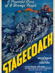 The poster for the 1939 film 'Stagecoach' will be part