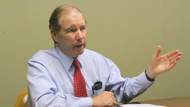 U.S. Sen. Tom Udall sat down with the Daily News to discuss a possible new F-16 mission at Holloman Air Force Base on Monday.