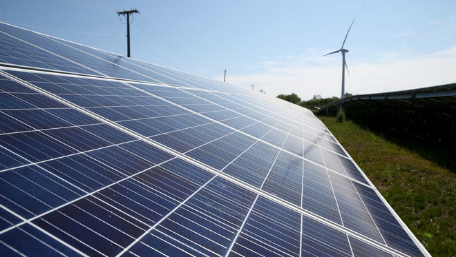A solar farm at GreenSpark Solar.