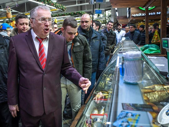 Ultra-conservative politician Vladimir Zhirinovsky,