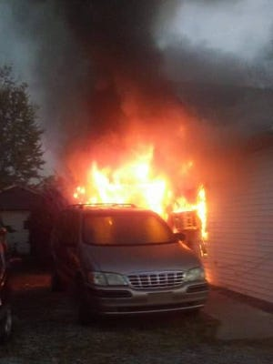 The house and car are a total loss following a fire at the home rented by Ron Potraffke of Clermont County.