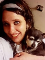 Corena Bower is seen in this photograph with her Chihuahua Paco. On Tuesday, Jan. 22, 2019, Bower's boyfriend Sonny Minshall was sentenced to 27 years to life in prison for murdering her in February 2018.
