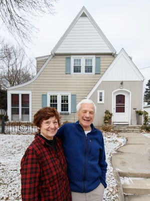 Mary and Brian Steinke pose for a photo at their home in Oconomowoc on Monday, Jan 29, 2018.