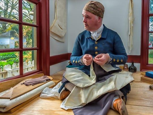 Mark D. Hutter, Master Tailor, Colonial Williamsburg