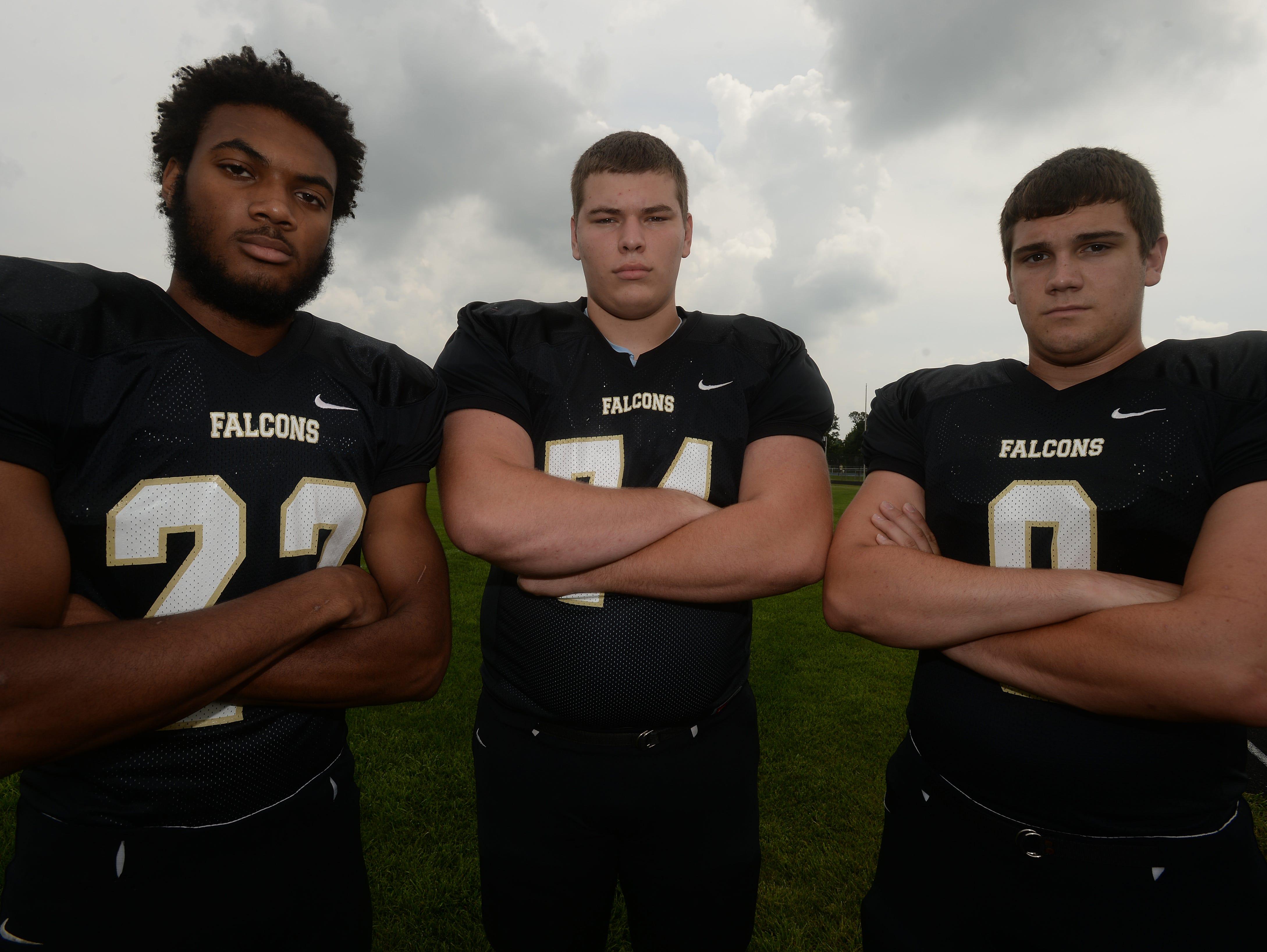 Kiante Enis (from left), Elijah Chalfant and Dustyn Hangen return from last year's TEC co-champion.
