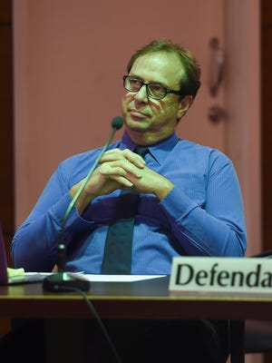 In this July 2017 file photo, former University of Guam professor Michael Ehlert is shown during his trial at the Superior Court of Guam in Hagåtña.