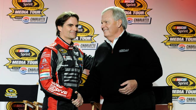 Jeff Gordon has driven for Rick Hendrick, right, and Hendrick Motorsports since his first NASCAR Cup race in 1992.