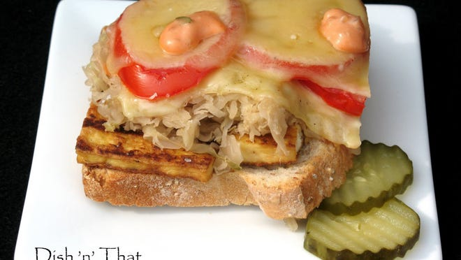 """""""Reuben's Revenge"""" is a vegetarian take on the classic sandwich made with grilled tofu."""
