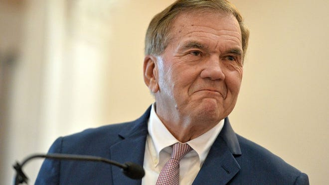Tom Ridge, who is a former Secretary of Homeland Security, Pennsylvania Governor and U.S. Congressman, is shown in Erie in January.