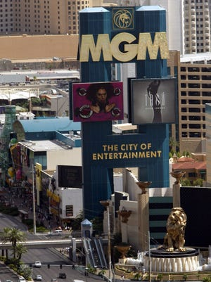 "The MGM Grand Hotel & Casino marquee is seen on the Las Vegas Blvd. ""strip,""  June 16, 2004 in Las Vegas."