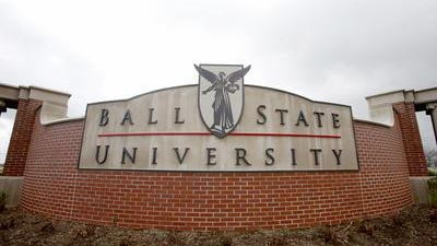 Ball State University entrance sign.