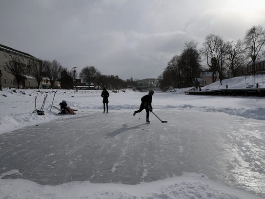 This ice rink in Pittsford is an example of the type of winter sports venues that one Reimagine the Canals proposal would create.