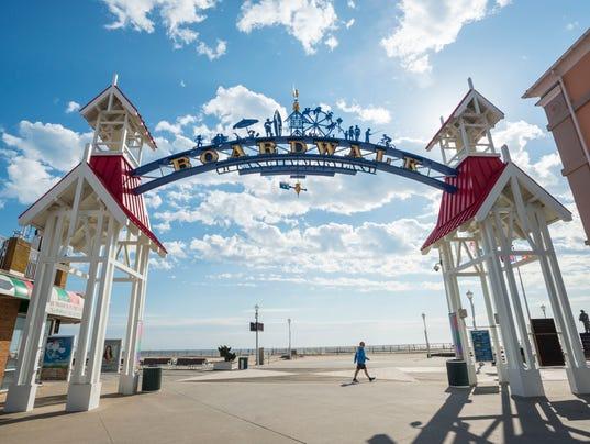 Exercising Ocean City Boardwalk