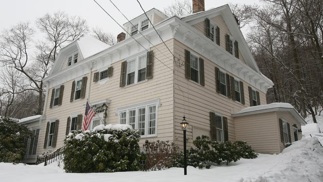 The exterior of the home of Gene and Nancy Weinberg in Grand View-on-Hudson, photographed Feb. 18, 2014. The five- bedroom home is on the market.