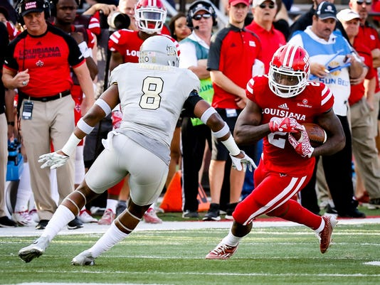in the football game between ULL and Idaho at Cajun Field in Lafayette, Louisiana on November 05, 2016.