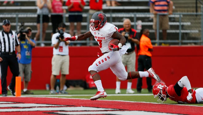 New Mexico running back Richard McQuarley leads the team with 321 rush yards and five touchdowns.